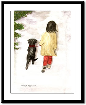 Black Lab Dog Watercolor by Paul Jackson Poster from Zazzle.com