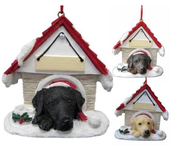 Labrador retriever lab christmas ornaments decor for Dog house for labrador retriever