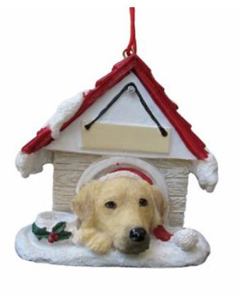 Labrador retriever lab christmas ornaments decor for Dog house for labrador retriever