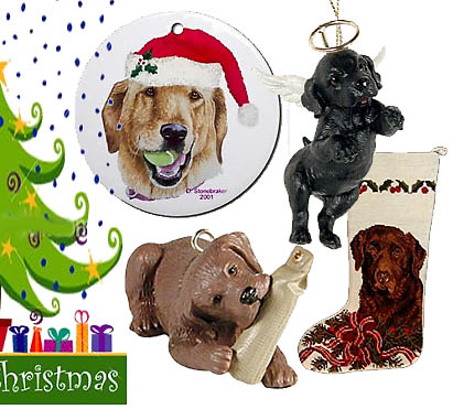 HolidayGiftShops Labrador Retriever Glass Christmas Ball
