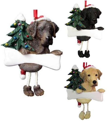 Chocolate Lab Ornament Christmas