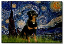 Rottweiler Starry Night Van Gogh