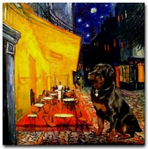 Rottweiler Terrace Cafe by Van Gogh