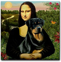Rottweiler and Mona Lisa