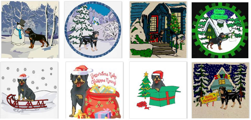 Rottweiler Gifts.com - Rottweiler Christmas Cards & Ornaments