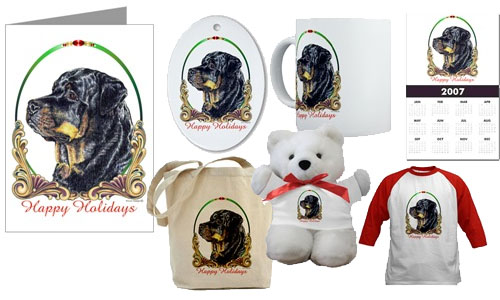 Rottweiler Gifts Com Rottweiler Christmas Cards Amp Ornaments
