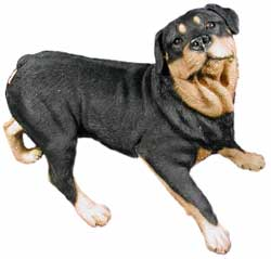 rottweiler figurines sculptures statues. Black Bedroom Furniture Sets. Home Design Ideas